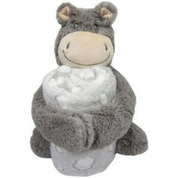 Κουβέρτα αγκαλιάς με παιχνίδι Hippo