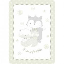 Κουβέρτα βελουτέ Funny friends 110x140 grey