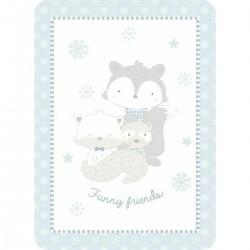 Κουβέρτα βελουτέ Funny friends 110x140 blue